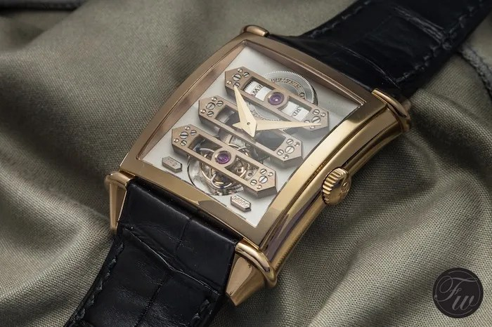 GP Vintage 1945 Tourbillon with three gold bridges