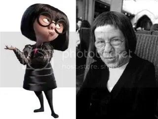 Edna Mode and Linda Hunt