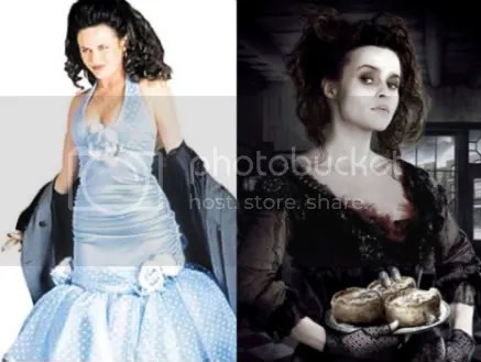 Gia Carides and Helena Bonham Carter
