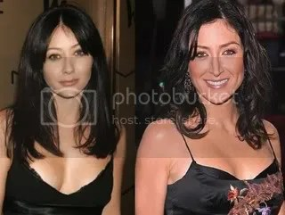 Shannen Doherty and Sasha Alexander