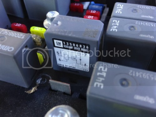 small resolution of it is a new headlight driver module hdm relay gm part 13506836 it replaces part 15016745 which could allow the headlights to cut out if overheated