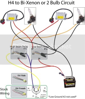 Proper wiring harness diagram for 90069005 to BiXenon