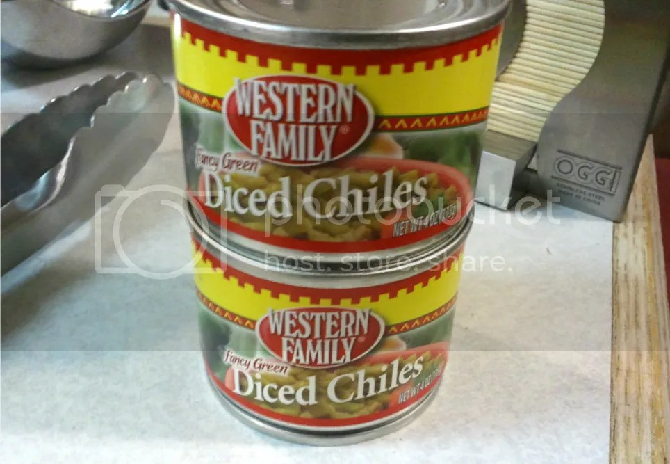 Two 4 oz. cans of green chiles
