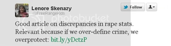 Lenore Skenazy Tweet Endorsing Rape Apologist Article