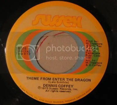 Dennis Coffey - Theme from Enter the Dragon 45 scan/ Sussex Records