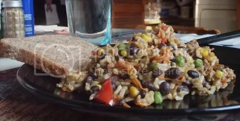 rainbow rice plate