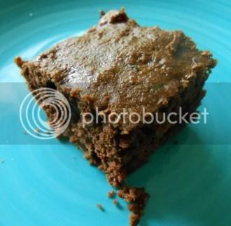 vegan zucchini brownie closeup