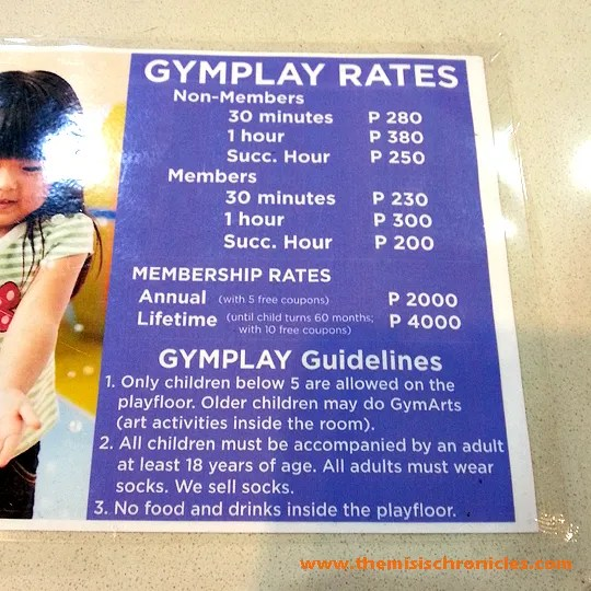 Gymboree Gymplay rates