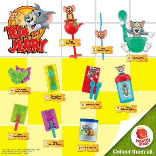 McDonald's Happy Meal toys Tom and Jerry