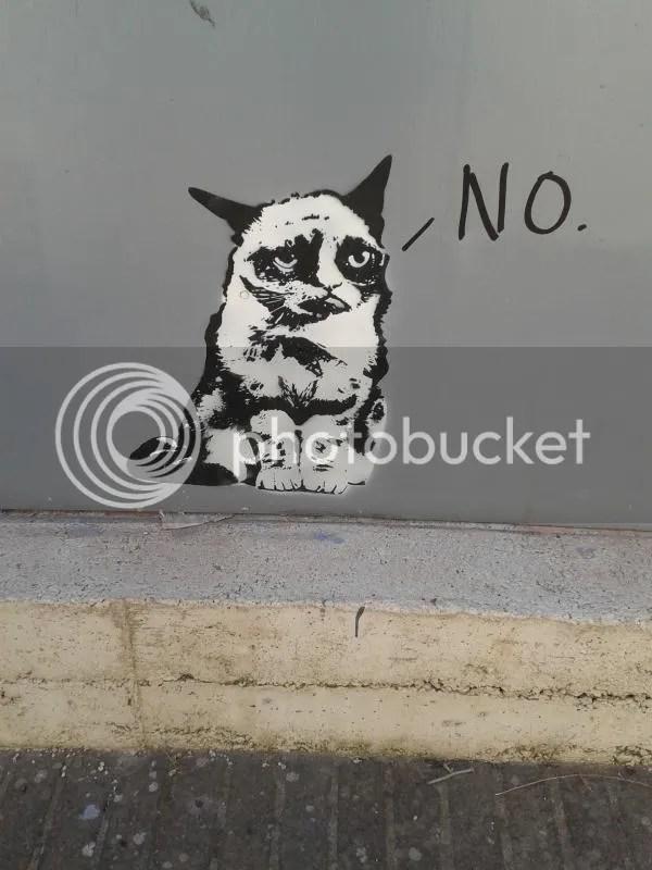 Grumpy Cat Street Art