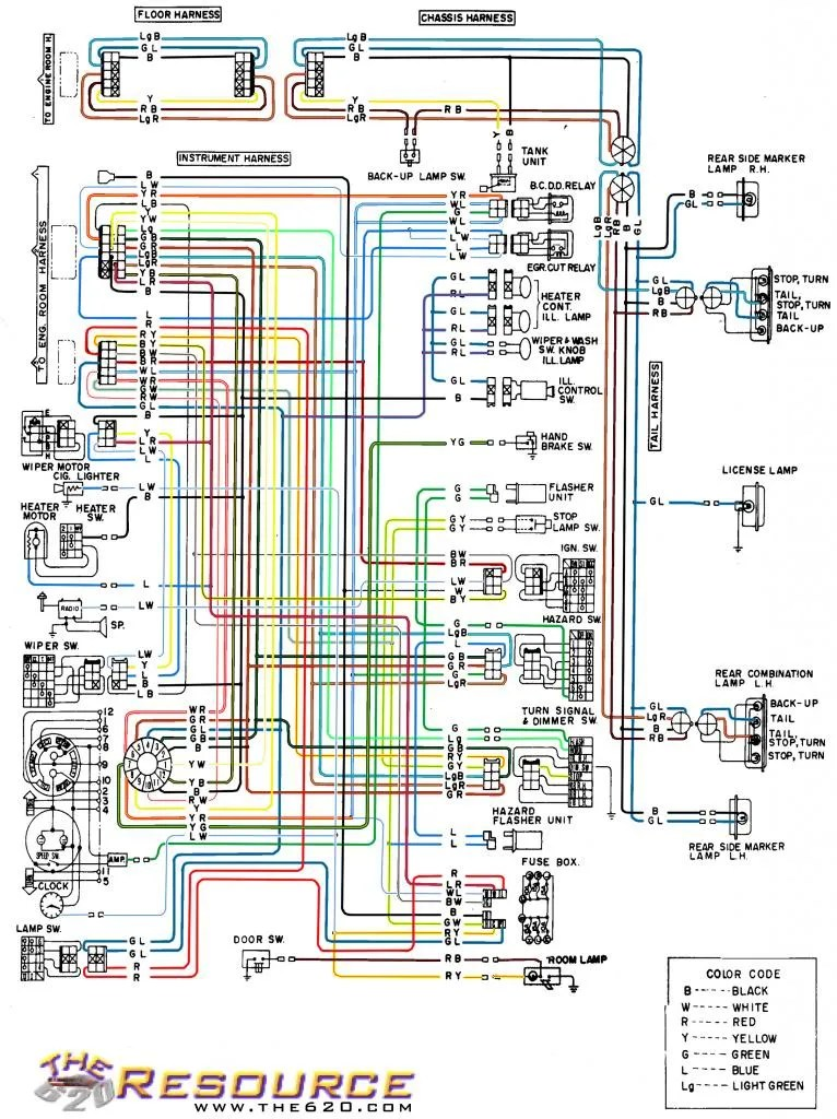 Color Coded Wiring Diagram 620 Ratsun Forums