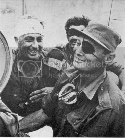 General Moshe Dayan and general Ariel Sharon during VISITING AN IDF OUTPOST ON THE WEST BANK OF THE CANAL photo 5.jpg