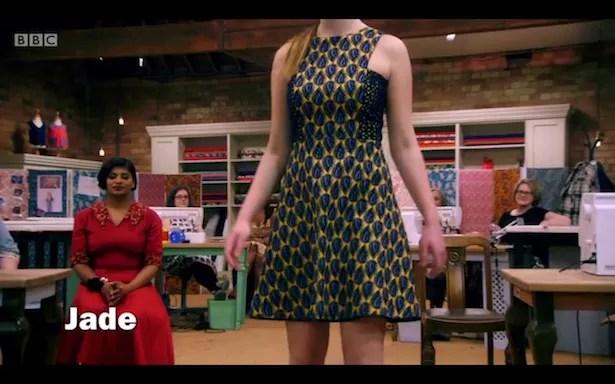 Jade's dress