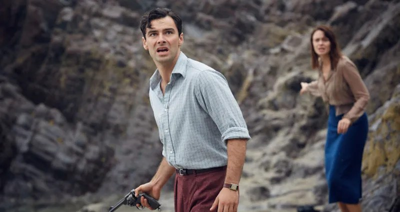 Aidan Turner and Maeve Dermody in And Then There Were None