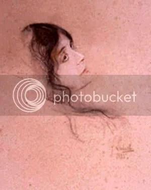 a portrait of Eleonora Duse