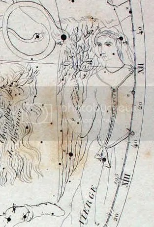 The Art Nouveau Virgo from Flammarion map - Felice Stoppa lecture