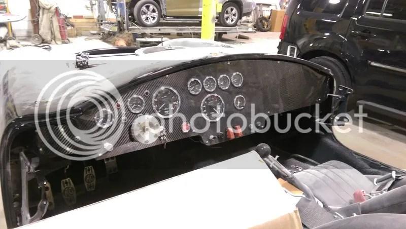 Roadster/Challenge Carbon Fiber Dash/Shifter Panel