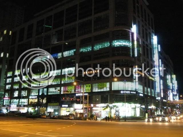 The Main Corner at Night