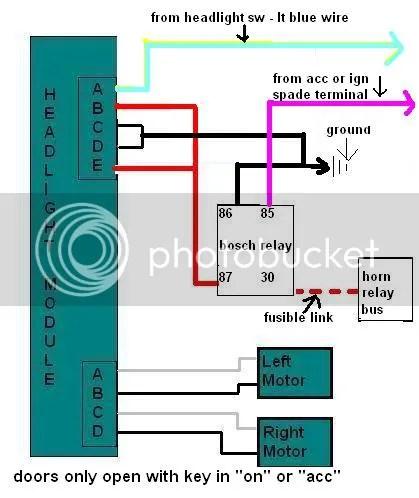 67 rs headlight conversion with firebird module - team camaro tech - firebird  headlight relay wiring