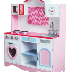 Toy Kitchen Sets Color Choices For Cabinets Mcc Large Girls Kids Pink Wooden Play Children S Item Specifics
