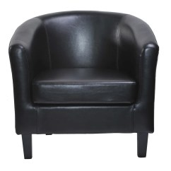 Leather Tub Chair Oakland Raiders Faux Armchair Club For Dining