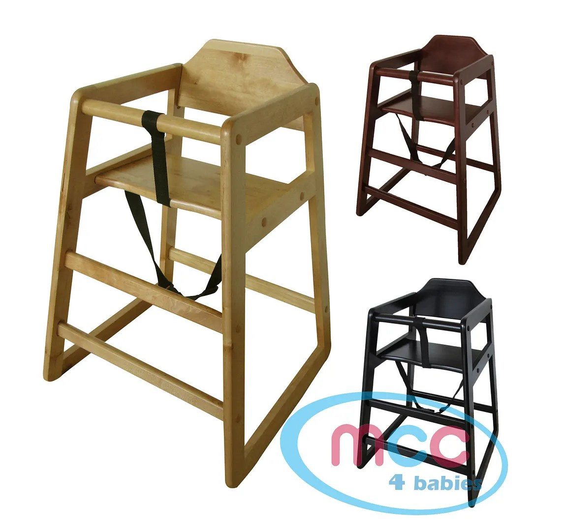 Wooden Baby High Chair Details About Mcc Stackable Wooden Baby Feeding Highchair High Chair Home Restaurants