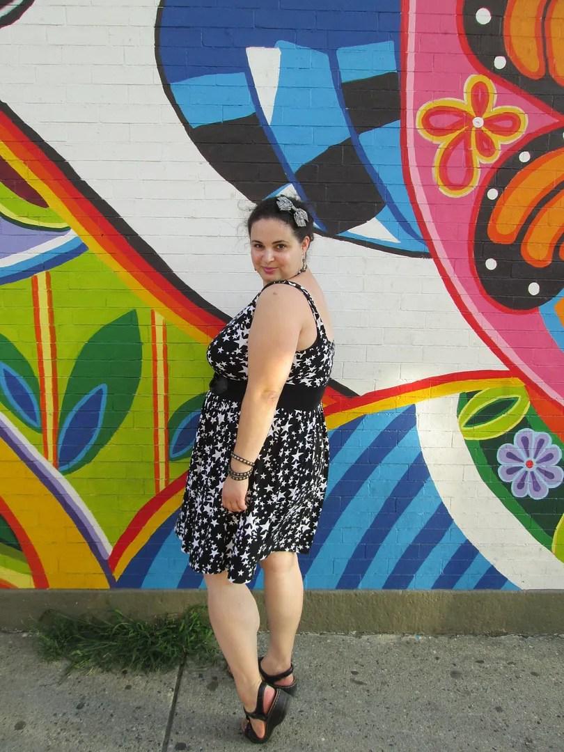 plus size outfit black star asos curve dress