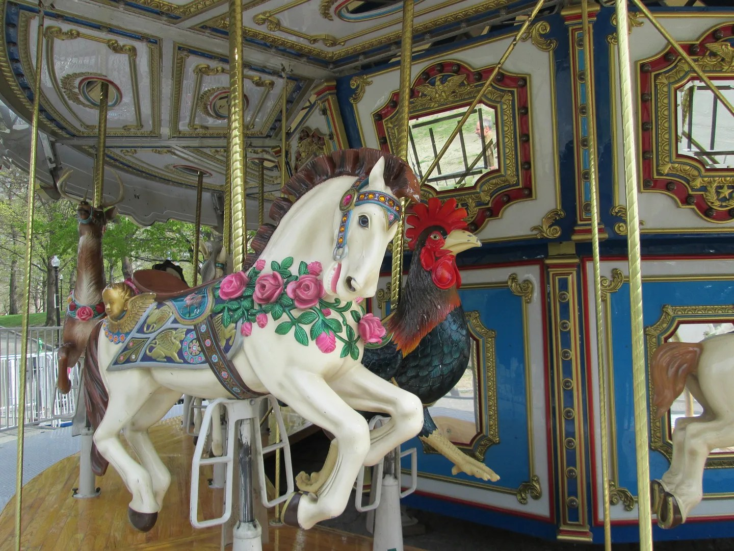 carousel horse and chicken