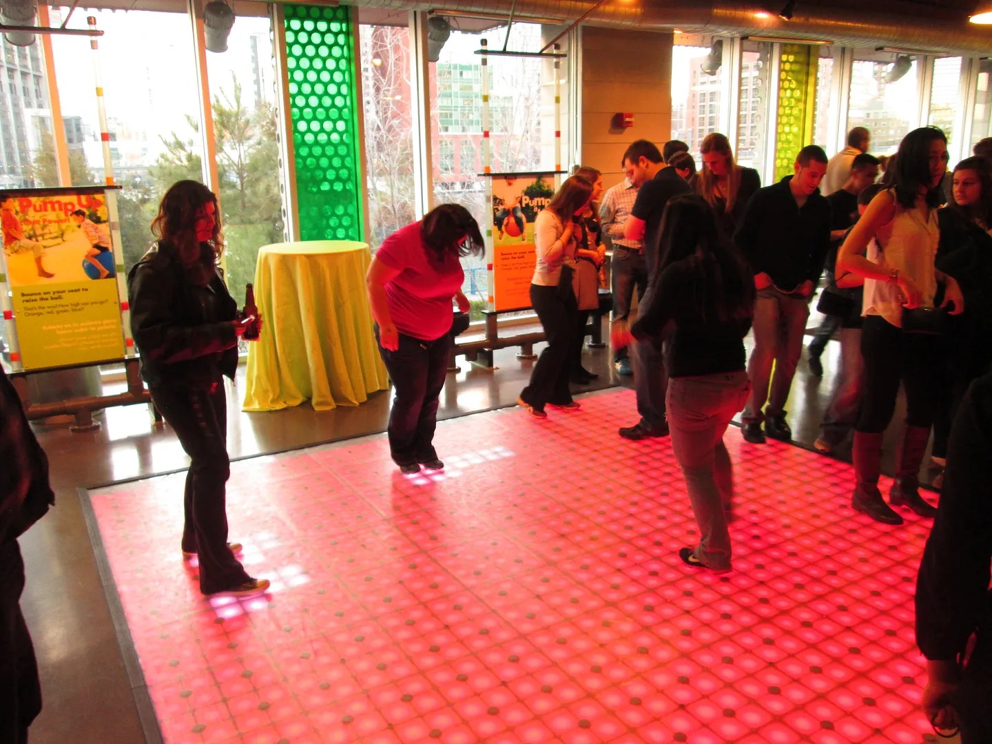 tetris dance floor at boston children's museum