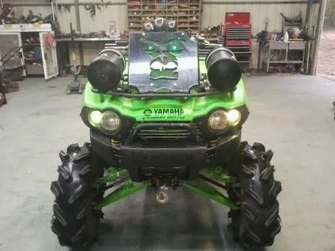 Green Beast 07 Brute Force 750 Lifted Snorkles Outlaws