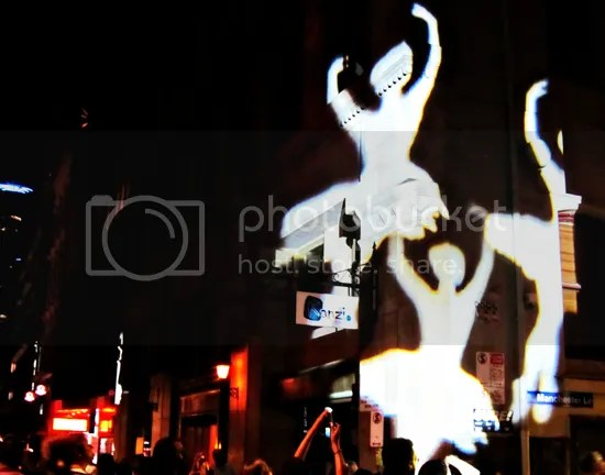 Melbourne White Night Dancing Ballerinas