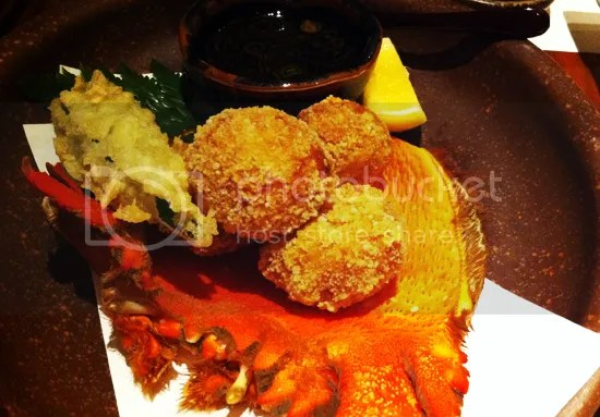 Koko, deep fried crap and fish mousse in puff rice