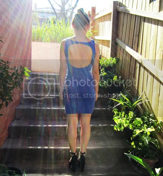 Kookai blue body con dress