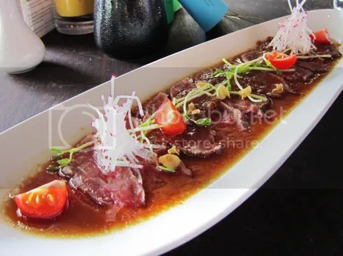 Beef tataki Sake Restaurant