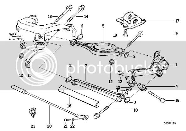 need rear suspension parts (e36)