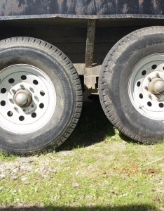 Yep the front left is  back  radials  sidewalls bulge more than bias but they run good bit cooler also lt tires what size that in metric pirate  rh