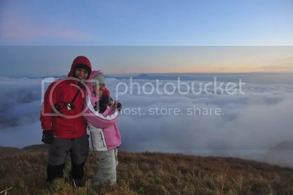 Derick and Alei in Mt. Pulag