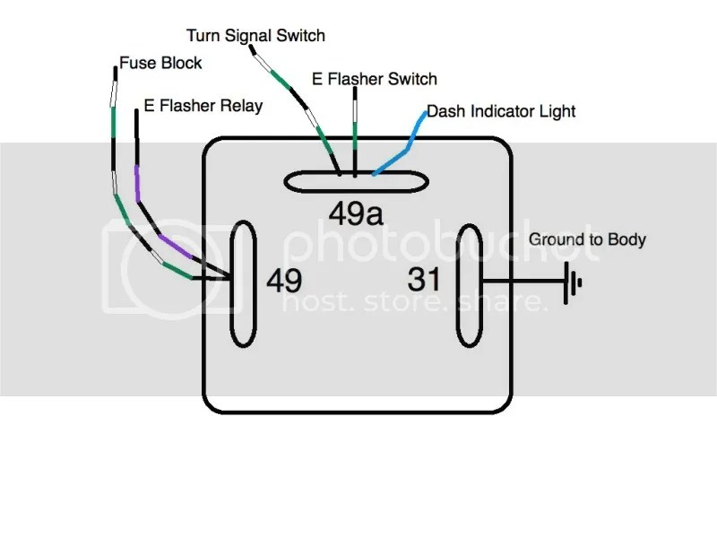 3 pin electronic flasher relay wiring diagram dayton gas heater turn signal schematic thesamba com split bus view topic relays prong image may