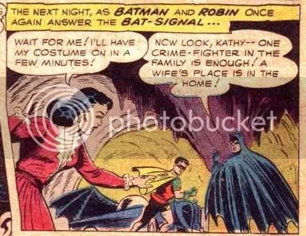 Batman jerk Kathy Kane Robin Batwoman