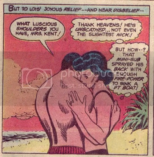 He\'s totally trying to bang her in Action Comics #484
