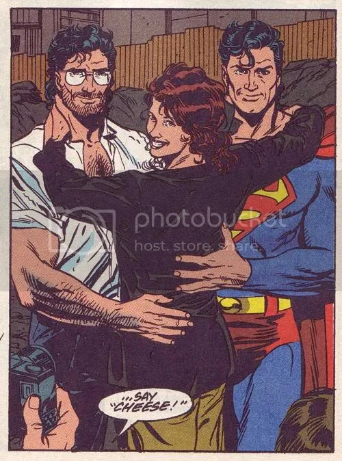 Action Comics #692. Dirty cow is going to have a threesome