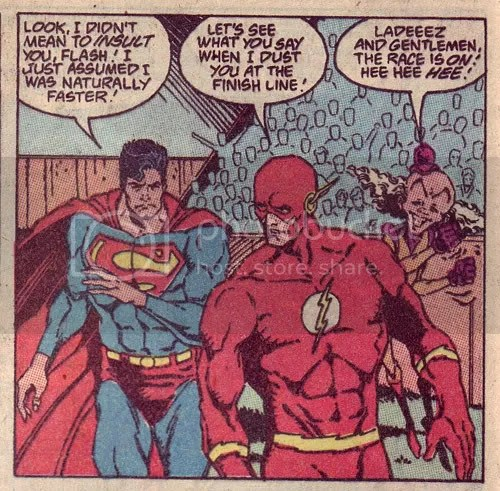 Racing the Flash in Adventures of Superman #463