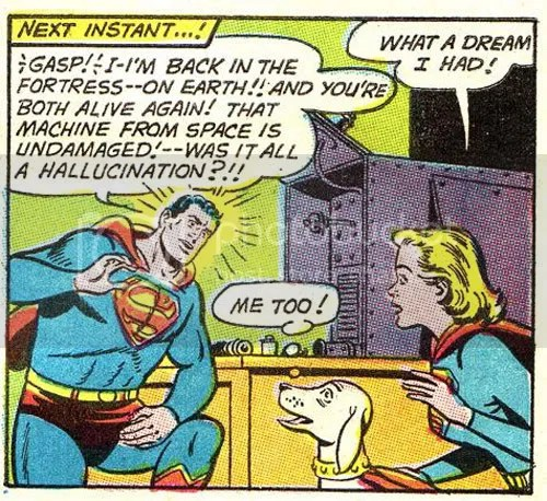 A talking dog, that's trippy stuff in Superman #213. At least he never hallucinated about banging his cousin