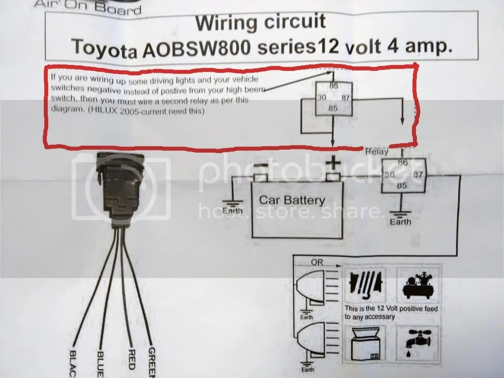 driving light wiring diagram toyota curtis hour meter help bar to come on with brights