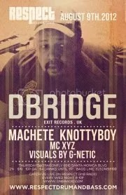RESPECT DnB Thursday's Presents D-BRIDGE UK DnB Producer at nightclub Dragonfly Thursday August 9th 2012