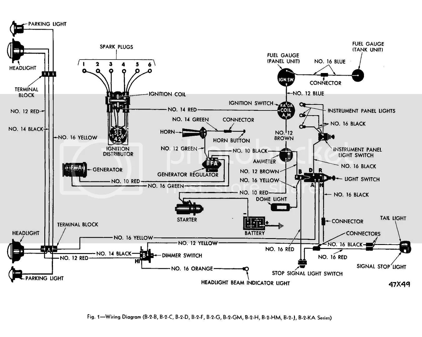 1951 Ford Truck Wiring Diagram 12 Or 6 Volt