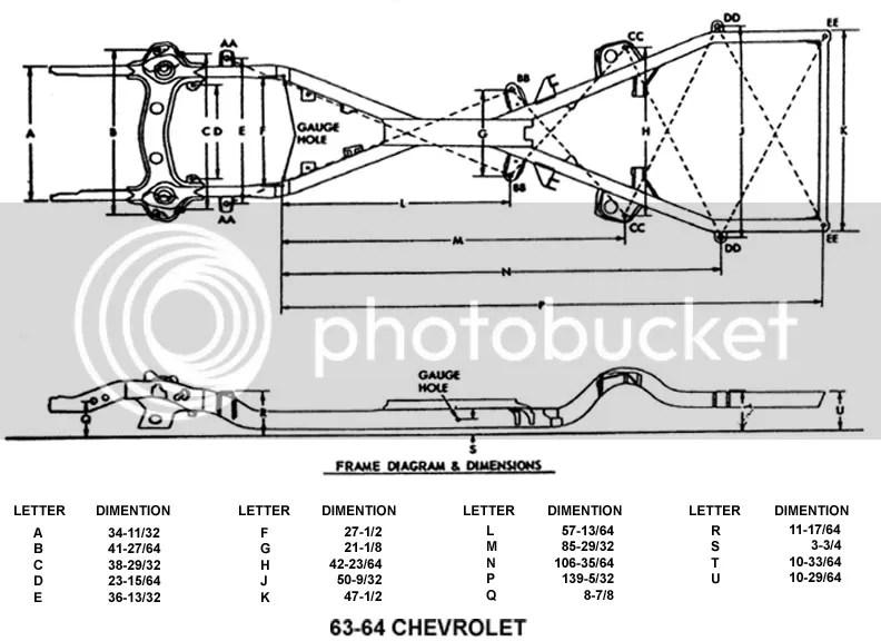 61-64 Impala Frame chart!