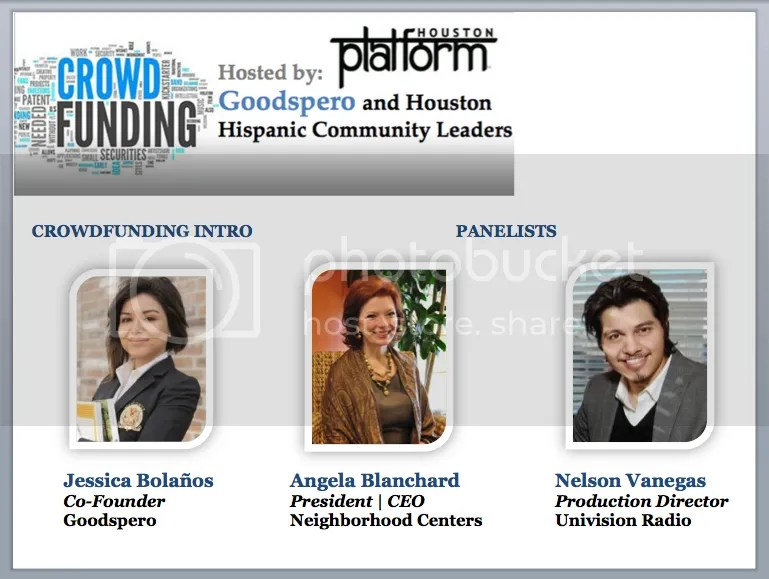 Image: Crowdfunding Panel - Angela Blanchard - Neighborhood Centers - Nelson Vanegas - Univision Radio