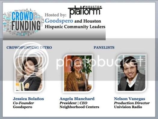 Image: Crowdfunding Panel - Angela Blanchard - Neighborhood Centers - Nelson Vanegas - Univision Radio