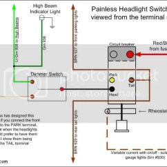 Four Way Flat Wiring Diagram 3 Wire Circuit Highbeam Switch Data Schema Headlight Dimmer Ffcars Com Factory Five Racing Light